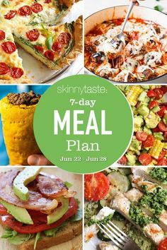 A free 7-day, flexible weight loss meal plan including breakfast, lunch and dinner and a shopping list. All recipes include calories and updated WW Smart Points. Weight Loss Meal Plan, Weight Watchers Meals, Meal Prep Cookbook, 7 Day Meal Plan, Cooking Recipes, Healthy Recipes, Healthy Foods, Delicious Recipes, Keto