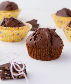 Chocolate Muffins [Chickpea flour, Beans, Desserts, Recipe makeover, Low-calorie, Snacks, Gluten-free, Dairy-free, Refined sugar-free, Yeast-free, Corn-free, Grain-free, Nut-free, Wheat-free] *