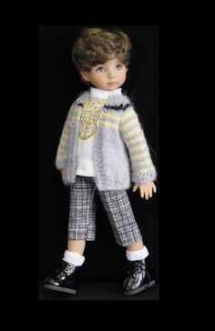 Handmade sweater and pants set made for boy Effner little darling doll