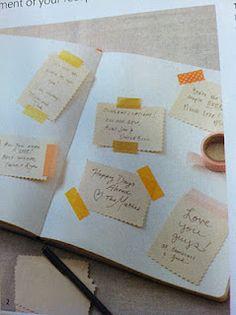 love this guest book idea