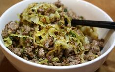 Ground Turkey & Cabbage Stir-Fry