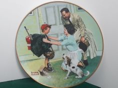 Knowles Bradford Exchnge Home From Camp Coming of Age Series Norman Rockwell COA