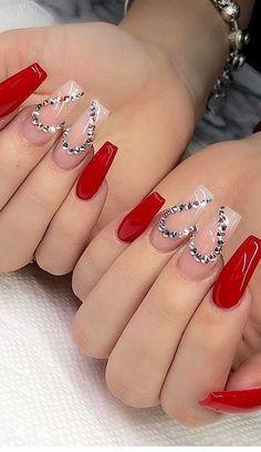 101 Want to see new nail art? These nail designs are really great Picture 60 - Nail art - 101 Want to see new nail art? These nail designs are really great Picture 60 101 Want to see new nail art? These nail designs are really great Picture 60 - - - Valentine's Day Nail Designs, Winter Nail Designs, Simple Nail Designs, Acrylic Nail Designs, Nails Design, Blog Designs, Red Acrylic Nails, Stiletto Nail Art, Glitter Nail Art