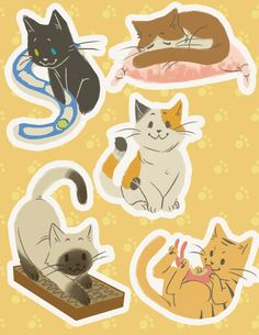 Some cat stickers I made a month or so back but forgot to upload Neko Atsume Cute Cartoon Drawings, Cute Animal Drawings, Animal Sketches, Neko Atsume, Kitty Games, Cat Pose, Cat Wallpaper, Cat Stickers, Cute Chibi