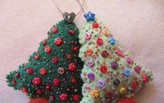 Lavoretti in feltro per Natale - Gli alberelli di natale