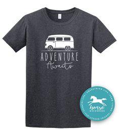 Outdoors T-shirt's, adventure awaits! Hiking Shirts, Travel Shirts, Adventure Awaits, Family Adventure, Cute Hiking Outfit, Hiking Outfits, Climbing Outfits, Vw T, Volkswagen