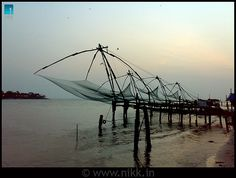 Chinese Fishing Nets (Cheenavala) located at Vyppin.     http://bamboonets.com/netting-techniques-2/
