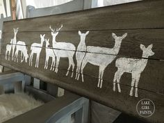 I have some new winter art     to share with you all today!     A silhouette row of deer in gray and white     is something you can put on ...