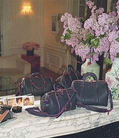 The limited edition SC bags by Sofia Coppola and Louis Vuitton for the Bon Marché Rive Gauche, price on request.