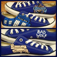 Completely Custom Hand Painted Shoes by CandysCustomPaints on Etsy, $110.00