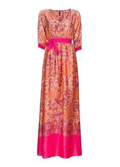 MANGO - Printed satin gown