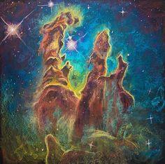 The Art of Letting Go - Kara Hoblin Art Of Letting Go, Chalk Drawings, Chalk Art, Sci Fi Art, Fantasy Artwork, Kara, Cosmic, Star Trek, Pastel