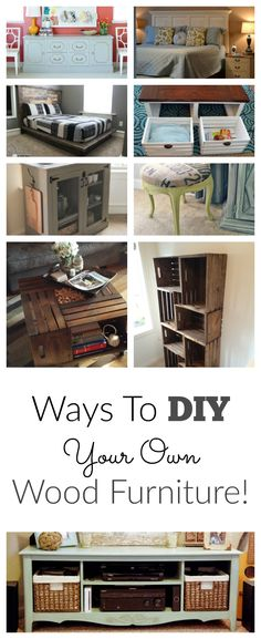 I LOVE DIY furniture, save money and make your home beautiful!  This site also has hundreds of other tutorials and tips on painting anything in or outside of your home!  A must REPIN for DIYers