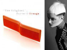 "Contrary to the traditional straight cutting comb, the Curve-O Advanced Cutting Comb ""The Original"" aligns itself with the natural shape of the human cranium . Natural Shapes, Hair Tools, Education, Orange, The Originals, Tips, Advice, Learning, Teaching"