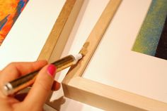 DIY Gold Frame made with gold pen or use gold leaf paint