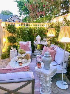 43 amazing outdoor living room makeover ideas to impress everyone 14 Outdoor Rooms, Outdoor Gardens, Outdoor Living, Outdoor Furniture Sets, Outdoor Decor, Backyard Patio Designs, Backyard Landscaping, Terrace Decor, Decoration