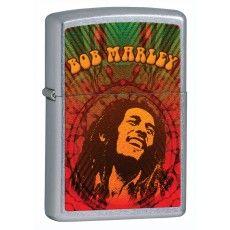 Zippo Lighter Bob Marley Face Street Chrome