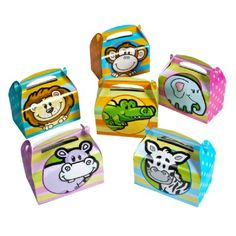 6.25-inch Zoo Animal Treat Boxes  (Bulk Pack of 12 Boxes) at theBIGzoo.com