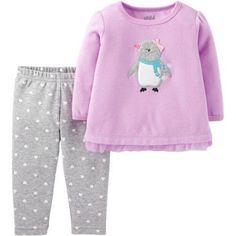 678cc3beb9f Child of Mine by Carter s - Newborn Baby Girl Pant Set-2 Pieces -  Walmart.com