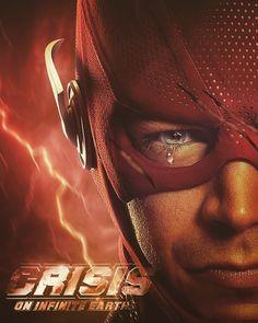 Crisis on infinite earth The Flash Poster, The Flash Art, Flash Comics, Dc Comics, Flash Tv Series, Flash Wallpaper, Flash Barry Allen, Black Spiderman, Hero Arts