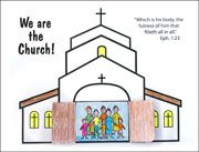 Sunday School Bible Craft We Are the Church Activity Sheet
