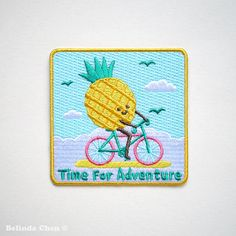 Time for adventure Pineapple Iron On Patch by BelsArt on Etsy