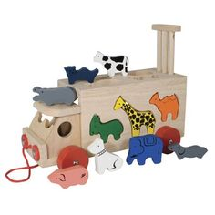 Buy Animal Shape Wagon from Mulberry Bush, an online toyshop for traditional and wooden children's toys, gifts and games delivered throughout the UK