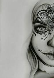 Image Result For Black And White Sugar Skull Girl Tattoo Skull Girl Tattoo Tattoos Art Tattoo