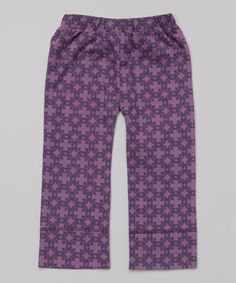 Look at this #zulilyfind! Purple Baroque Organic Pants - Infant by kate quinn organics #zulilyfinds