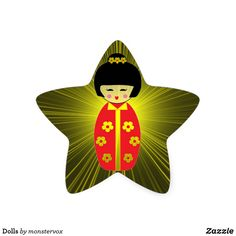 Dolls Star Sticker #Doll #Asian #Asia #Japan #Japanese #Sticker
