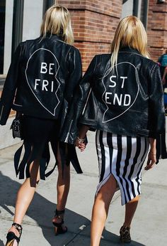 Matching Veda Best Friend jackets–tag your Pinterest bestie