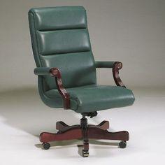 Triune Business Furniture Leather Executive Chair Upholstery Color: Ebony, Frame Finish: Walnut, Tilt Mechanism: Tilt Lock Included