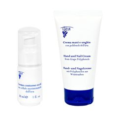 Itria Cosmetics Eyes+Hands cream care set Cream Nails, Eye Contour, Skin Elasticity, Tone It Up, Hand Cream, Shaving, Shot Glass, Essential Oils, Fragrance