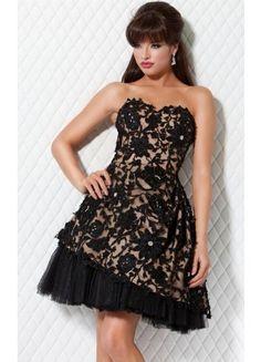 Theperfect A-line Sleeveless Short Tulle Strapless Prom Dresses - Wedding Dresses
