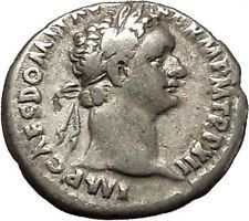 DOMITIAN son of Vespasian Silver Ancient Roman Coin Athena Minerva Cult i53295