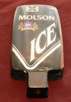 Molson Ice Acrylic Beer Tap Handle 2-Sided      01004 by NWAttic on Etsy https://www.etsy.com/listing/288449947/molson-ice-acrylic-beer-tap-handle-2