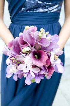 Lovely purple bouquet by Hunt Littlefield