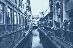 City Of Venice Laser Print Denim Poster by DenimArts on Etsy, $16.50