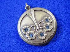 Vintage c1910 ~ Art Deco Nouveau Repousse Locket Necklace ~ Gold-Filled ~ Bridal #Locket