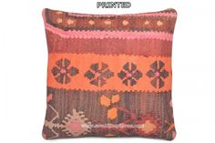 Kilim Pillow Case Hand Embroidery Bohemian