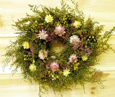 Small Country Dried Flower Wreath by theflowerpatch on Etsy