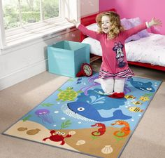 Flair Rugs Matrix Kiddy Under The Sea Childrens Rug 100x160cm: Amazon.co.uk: Kitchen & Home