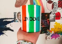 Porcelain mug hand painted in the colors of Believer a song of the group Imagine Dragons from their latest album Evolve released in ! Dan Reynolds, Believer Imagine Dragons, Porcelain Mugs, Cool Bands, Room Decor, Hand Painted, Album, Shop, Diy