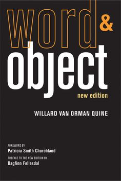 Word & Object, New Edition, by Willard Van Orman Quine