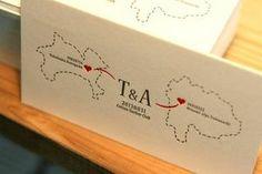 出身県をデザインした活版印刷の招待状 : 【かわいい】結婚式の招待状【おしゃれ】 - NAVER まとめ