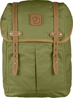Large backpack in classic Fjällräven style, made from a more durable version of our waxed G-1000. Perfect for both everyday use in town or time spent in the forest. The clean lines and functional details in natural tone leather mean that it meets all of t