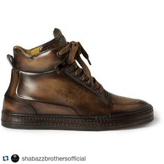 Repost @shabazzbrothersofficial with @repostapp What's Up B? Heard often around our offices as well as during our meetings the question is just as germane when asking venerable shoe manufacturer Berluti what's going on with them? Here's a good answer their high top 'Playtime' sneaker. Made to the same exact standards as their super crispy shoe collections these ain't no ordinary high tops and don't think for a minute that they're cheap. They're not. #berluti #shabazzbrothers…