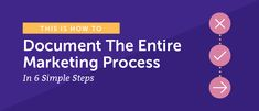How to Document the Marketing Process in Six Steps - CoSchedule #contentmarketingprocess