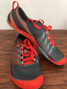 61cfc0900e4 merrell men s vapor glove 2 trail running shoe Grey  Spicy Orange Size 7.5  New without