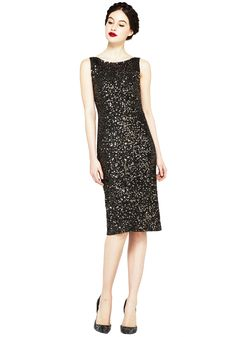 KIMBER SEQUIN FITTED DRESS | Alice + Olivia |